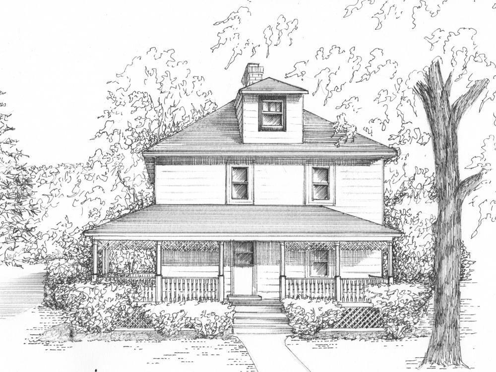 Днем, картинки дом мечты для срисовки