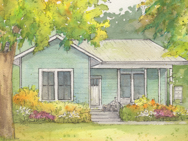 Painting of your home in watercolor