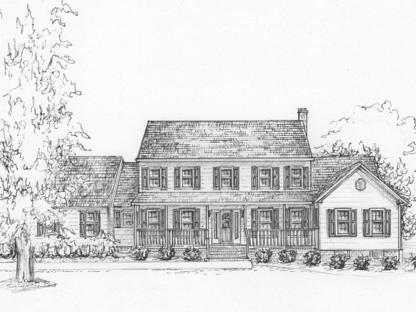 Ink drawing of your house