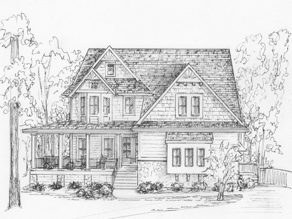 Portrait of your home in ink