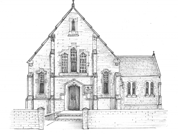 Commissioned Ink Portrait of Church