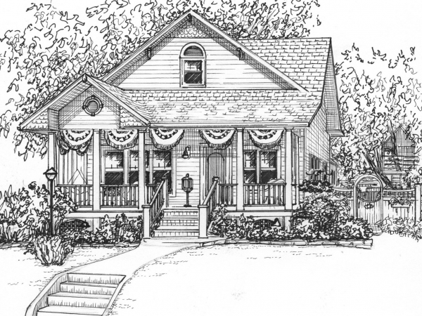 Ink sketch of your house