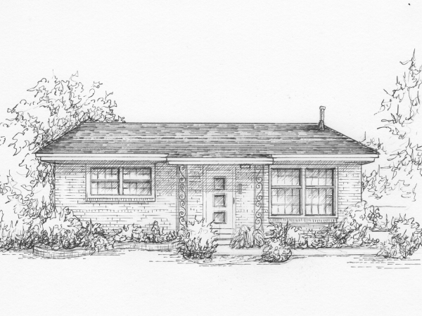 Commissioned drawing of your house