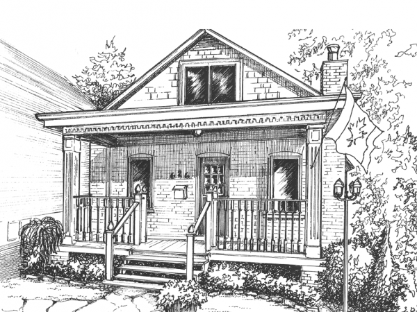 "8""x 10"" Architectural home drawing"