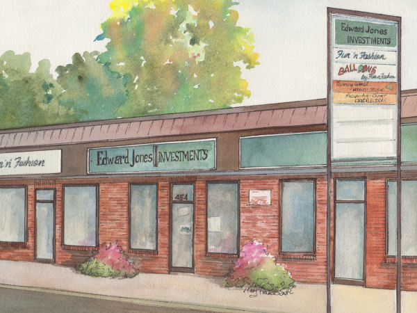 Custom Watercolor Painting of Business