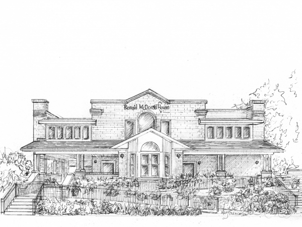 Architectural Illustration in Ink or your commercial building