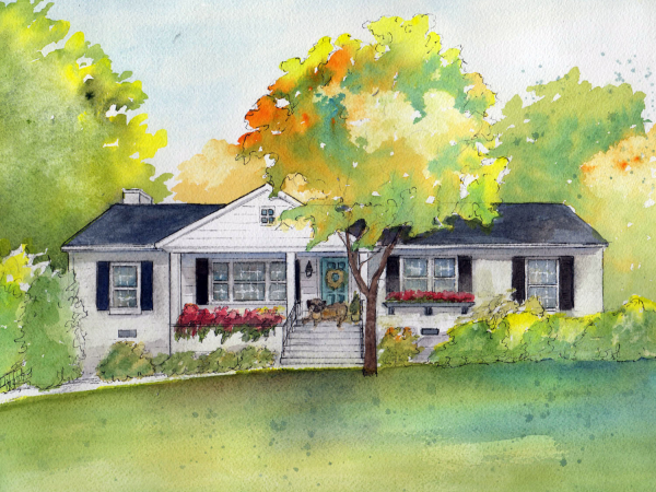Painting of my house commission