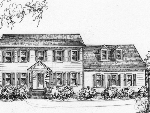 my house drawn from photo