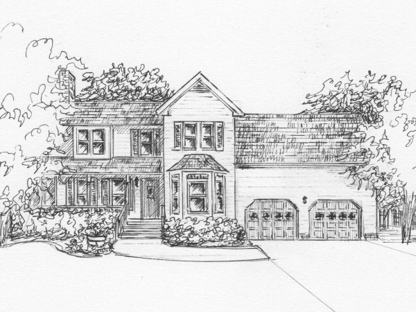 Architectural sketch from my photo