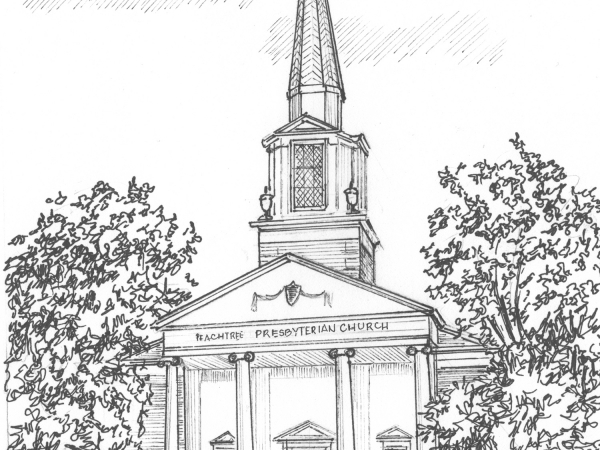 Church Sketch in Ink