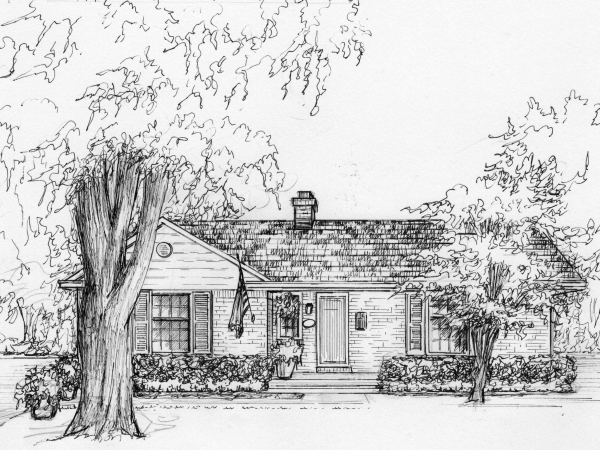 Your house drawn in ink